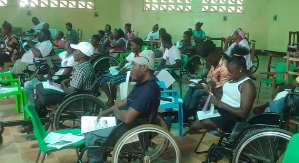 Members Of The Disabled Farmers At The Training