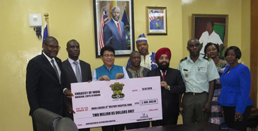 As Indian Gov't Gives US$2M Grant - Big Boost For 14 Military Hospital Construction