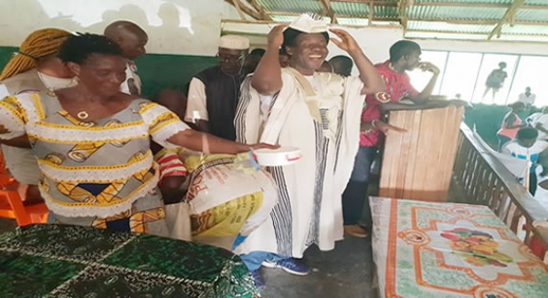 In Karplay City, Nimba County Aspirant Dolo Receives Rousing Welcome