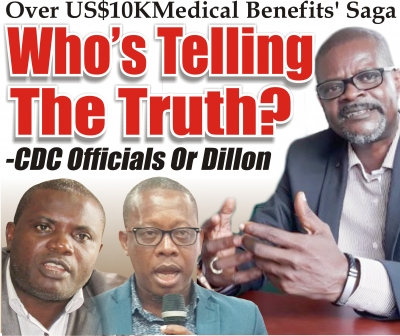 Over US$10KMedical Benefits' Saga Who's Telling The Truth? -CDC Officials Or Dillon
