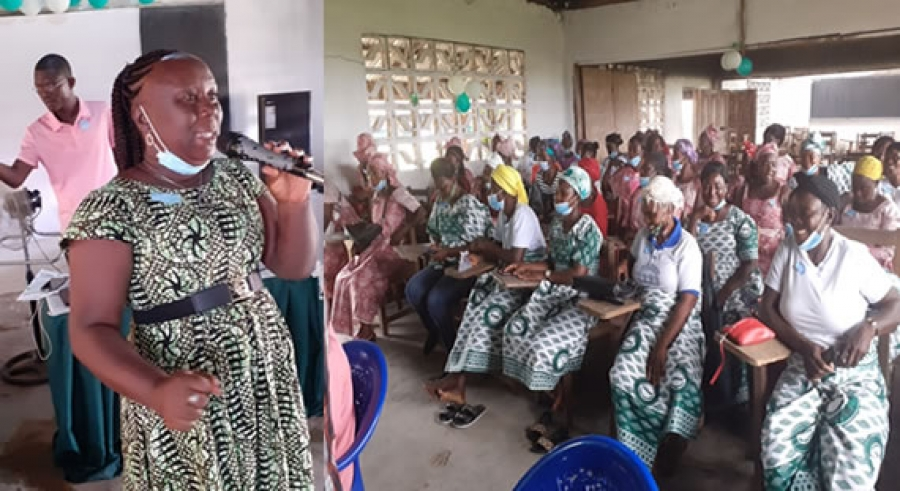 Madam Jarsah Varney Okai and the Women Groups