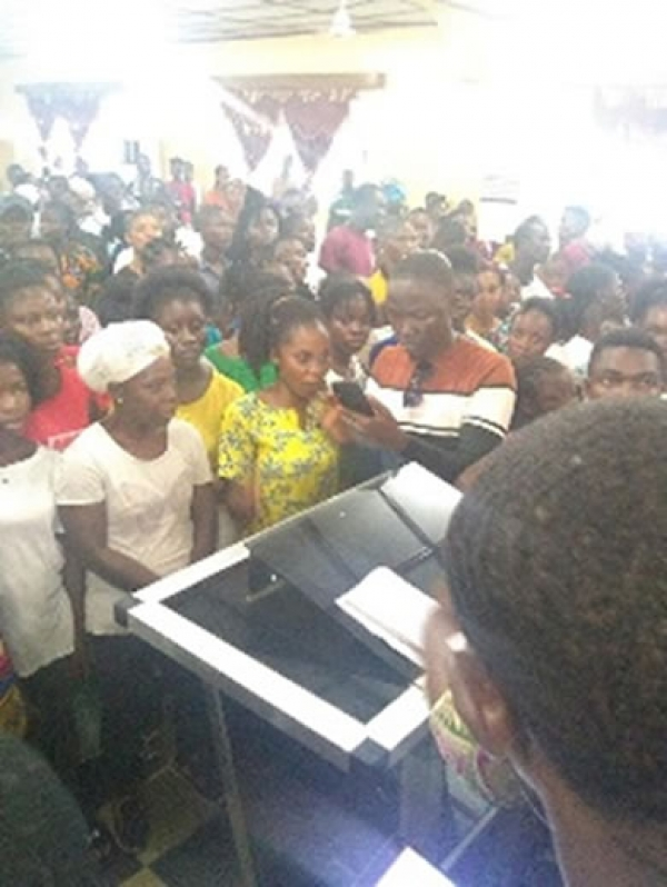 A Cross Section Of Citizens At The Petitioning Program