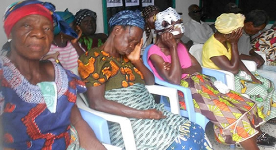 Some members  of the Vulnerable Group  in Liberia in  a sad mood