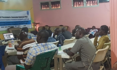 Partial view of some of the participants paying keen attention to a facilitator