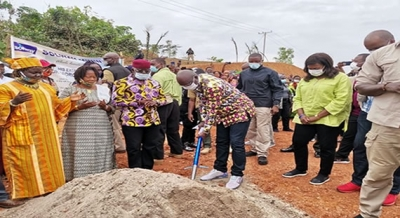 President George Manneh Weah Breaking Ground for the Construction of a Modern Market in Gonolorpa, Nimba County