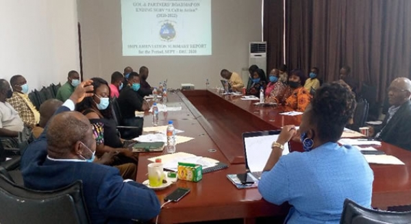 This meeting was to review the work accomplished and challenges met during the first quarter implementations of the Anti-SGBV Roadmap 2020-2022.